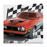 Mustang 1973 Tile Coaster