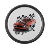Mustang 1973 Large Wall Clock