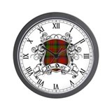 MacDuff Tartan Shield Wall Clock
