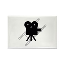 Hollywood Film Camera Rectangle Magnet (10 pack)