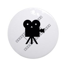 Hollywood Film Camera Ornament (Round)