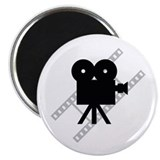 "Hollywood Film Camera 2.25"" Magnet (100 pack)"