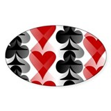 Poker Print! Oval Decal