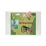 Arkansas Rectangle Magnet