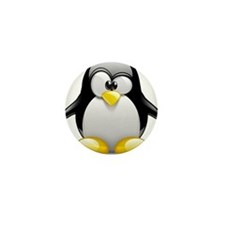 Tux Mini Button (10 pack)