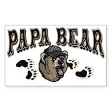 Papa Bear Father's Day Rectangle Decal