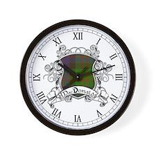 MacDonald Tartan Shield Wall Clock