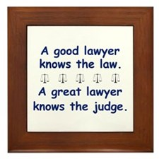 Good/Great Lawyer Framed Tile