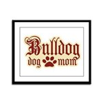 Bulldog Mom Framed Panel Print