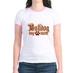 Bulldog Mom Jr. Ringer T-Shirt