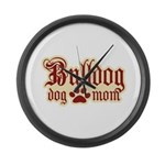 Bulldog Mom Large Wall Clock