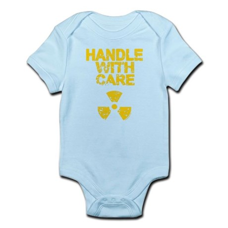 Handle WIth Care Blue Infant Bodysuit