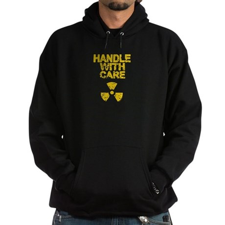 Handle WIth Care Black Dark Hoodie