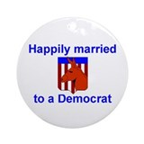 Married to a Democrat Keepsake Ornament