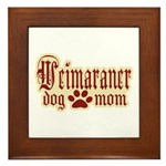 Weimaraner Mom Framed Tile