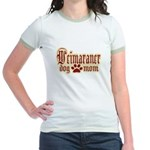 Weimaraner Mom Jr. Ringer T-Shirt