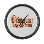 Weimaraner Mom Large Wall Clock