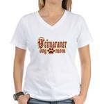 Weimaraner Mom Women's V-Neck T-Shirt