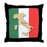Italia (Italy Map) Throw Pillow