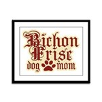 Bichon Frise Mom Framed Panel Print