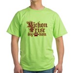Bichon Frise Mom Green T-Shirt