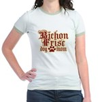 Bichon Frise Mom Jr. Ringer T-Shirt