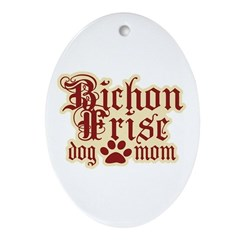 Bichon Frise Mom Ornament (Oval)