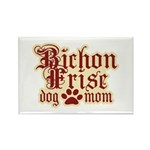 Bichon Frise Mom Rectangle Magnet
