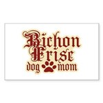 Bichon Frise Mom Sticker (Rectangle 50 pk)