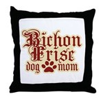 Bichon Frise Mom Throw Pillow
