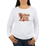 Bichon Frise Mom Women's Long Sleeve T-Shirt