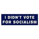 Didn't Vote For Socialism Bumper Bumper Sticker