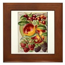 4 Farliest Fruits Framed Tile