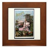 Dunlap's Seeds Framed Tile