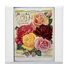 Henderson's Famous Roses Tile Coaster