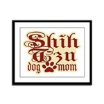 Shih Tzu Mom Framed Panel Print