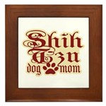 Shih Tzu Mom Framed Tile