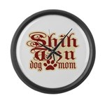 Shih Tzu Mom Large Wall Clock