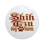 Shih Tzu Mom Ornament (Round)