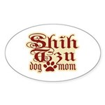 Shih Tzu Mom Sticker (Oval 10 pk)