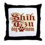 Shih Tzu Mom Throw Pillow