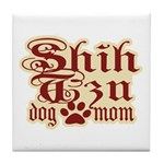 Shih Tzu Mom Tile Coaster
