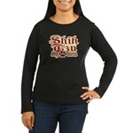 Shih Tzu Mom Women's Long Sleeve Dark T-Shirt