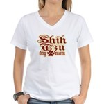 Shih Tzu Mom Women's V-Neck T-Shirt