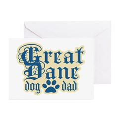 Great Dane Dad Greeting Cards (Pk of 20)