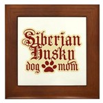 Siberian Husky Mom Framed Tile