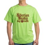 Siberian Husky Mom Green T-Shirt