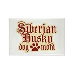 Siberian Husky Mom Rectangle Magnet (10 pack)