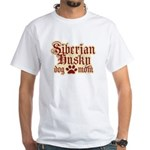 Siberian Husky Mom White T-Shirt