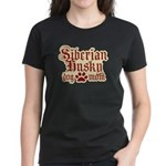 Siberian Husky Mom Women's Dark T-Shirt